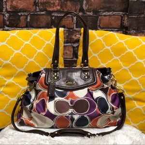 🌸OFFERS?🌸Coach Signature Multicolor Satchel